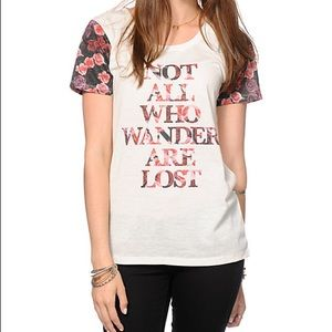 NOT ALL WHO wander Lord of the rings rose tee